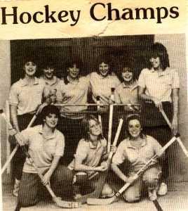Moody Bible Institute- 10 N Hockey champs- Ellen, Darcy, Nancy
