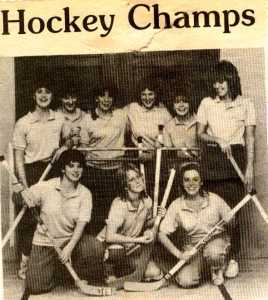 Moody Bible Institute- 10 N Hockey champs- Ellen, Darcy, Nancy