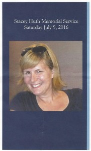 Stacey's memorial service