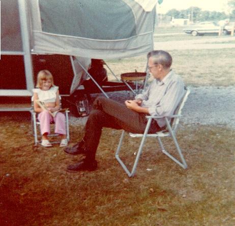 Darcy, Dad- camping